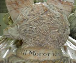 Hedgehog on Kyrle Tomb