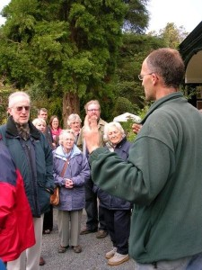 Stephen Lloyd, head gardener at Hergest Croft, gives members a guided tour, May 2008