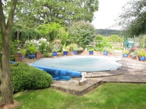 Outdoor, heated, swimming pool